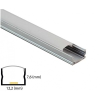 Aluminiu Profile L006 7 6x13 2mm 2m set